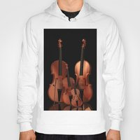 mortal instruments Hoodies featuring String Instruments by Simone Gatterwe