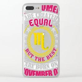 Best-Women-Born-On-November-03-Scorpio---Sao-chép Clear iPhone Case