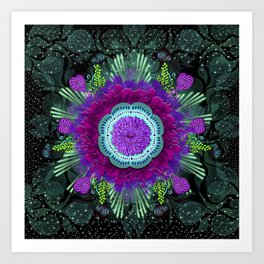 Space Magic Blue Art Print