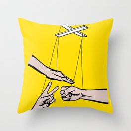 Rock, Paper, Scissors Throw Pillow