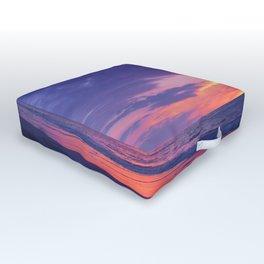 Broken sunset by #Bizzartino Outdoor Floor Cushion