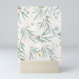 Wispy Leaves - Gray Mini Art Print