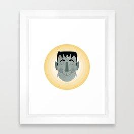 Frank the Happy Monster Framed Art Print