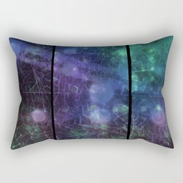 Purple,  Green and Blue Rectangular Pillow