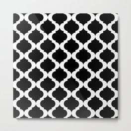 Moroccan Pattern - White Background Metal Print