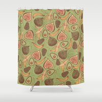 fig Shower Curtains featuring Fig by Meredith Miotke