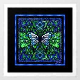 Glass Butterfly Art Print