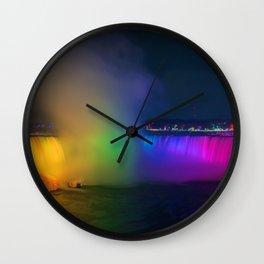 Rainbow Niagara Falls Waterfall (Color) Wall Clock
