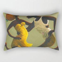 African American Masterpiece 'Hot Horn' by Orville Bulman Rectangular Pillow