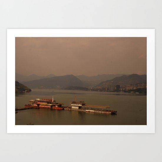 foggy peacefulness  Art Print