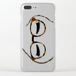 Tortoiseshell Glasses Brunette Clear iPhone Case