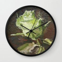 Rose flower. Wall Clock