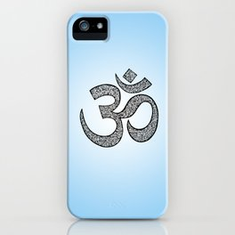 Hand-drawn pen and ink ornamental Om (aum) iPhone Case