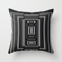 gray pattern Throw Pillows featuring Gray by Emma Michels
