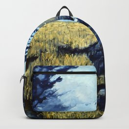 Crows Over Wheat Field Backpack