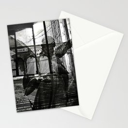 The unexpected arrival of the angels Stationery Cards