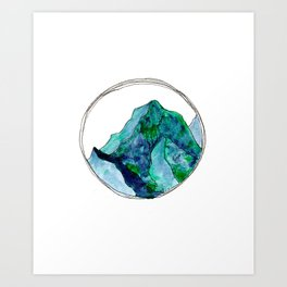 Turquoise Mountain Dreams Art Print