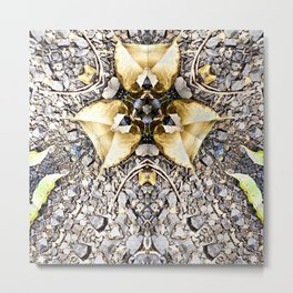 A Patterned Ground Metal Print