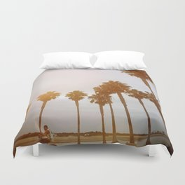 Palm Tree Road Duvet Cover
