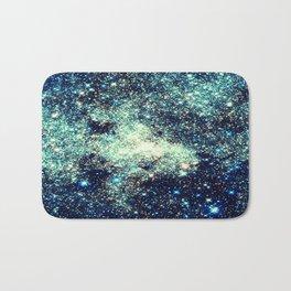gAlAxY Stars Teal Turquoise Blue Bath Mat