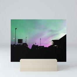 Green and pink Mini Art Print