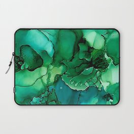 Into the Depths of Sea Green Mysteries Laptop Sleeve