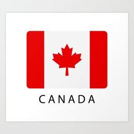 flag canada Art Print