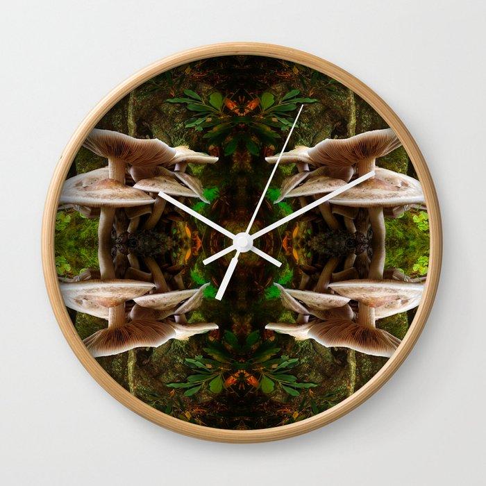 Mushrooms Galore Wall Clock