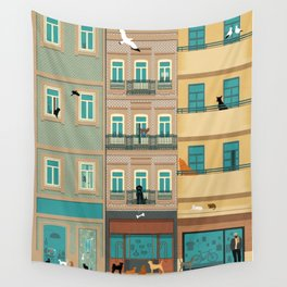 Porto Houses - Portugal Wall Tapestry