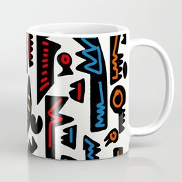 African Inspired Pattern Abstract Art Graffiti  Coffee Mug