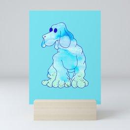 Blue Bloodhound Mini Art Print