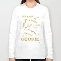 cookies Long Sleeve T-shirts featuring COOKIES! by Lindsay Spillsbury