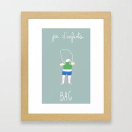 Jeux d'enfants : Bag Framed Art Print