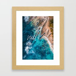 Still I Rise aerial coastline Framed Art Print
