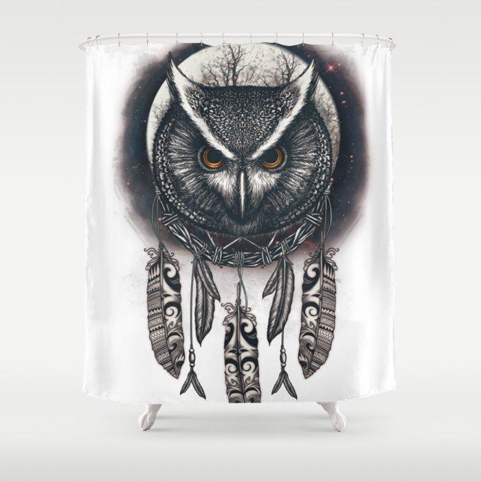 Dreamcatcher Owl Shower Curtain
