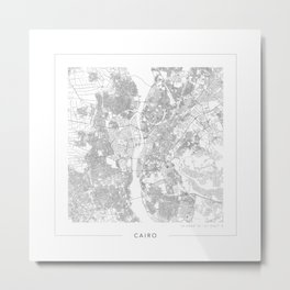 Cairo Map 2 Metal Print