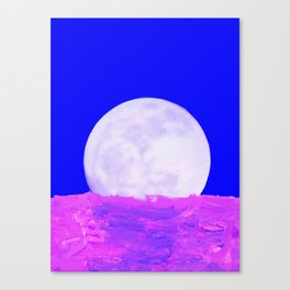 blu moon Canvas Print