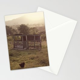 Chicken coop Stationery Cards
