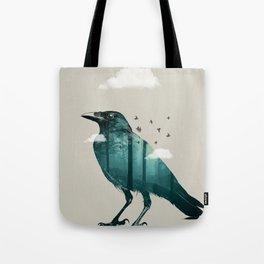 Teal Raven Tote Bag