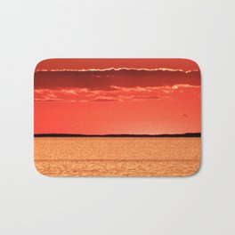 Orange Sky and Sea Bath Mat