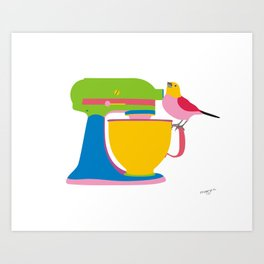 Lets bake Art Print