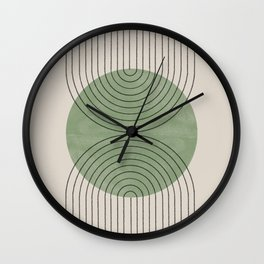 Perfect Touch Green Wall Clock
