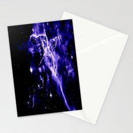 Violet Purple Galaxy Nebula Space Stationery Cards