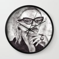 daria Wall Clocks featuring Daria by Yuval Ozery