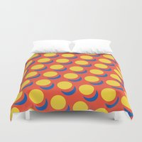 lichtenstein Duvet Covers featuring Wanna-Be Roy Lichtenstein Pattern by Heidi Clifford