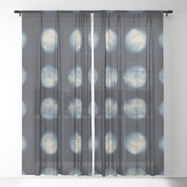 Shibori Moons Sheer Curtain