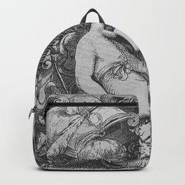 Cherub | Angels Vintage | Victorian | Sketch | Letter B Backpack