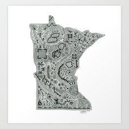Anatomy of Minnesota Art Print