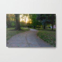 Allentown West Park Golden Hour Metal Print