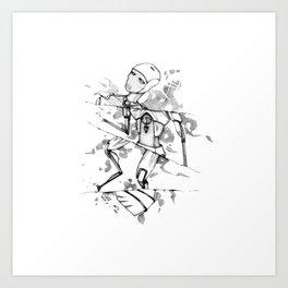 R0B0-H34RT (Robot Heart) Art Print